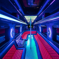 Abholung vom Flughafen mit einem VIP Party Bus